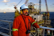 Glen Myck, Installation Manager on the Petro Canada offshore oil production rig, Terra Nova FPSO on the Grand Banks of Newfoundland. Photo by Greg Locke (C) 2006 www.greglocke.com  DCS Files