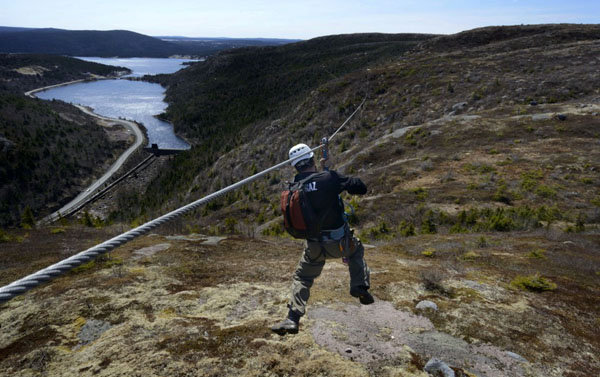 North Atlantic Ziplines. Petty Hr, Newfoundland. © Greg Locke 2012