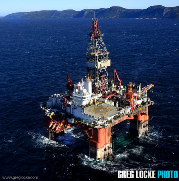 Seadrill's West Aquarius offshore drilling rig in Conception Bay, Newfoundland. Photography by Greg Locke  2013
