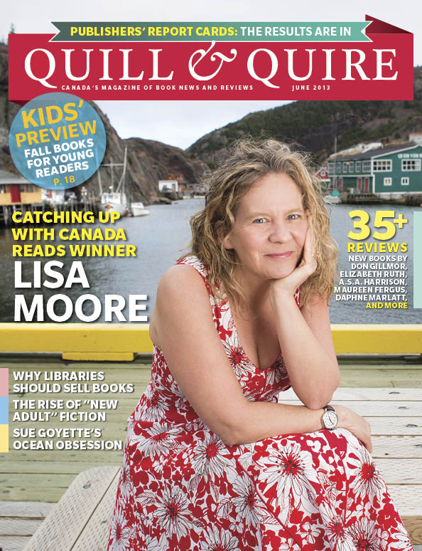 Newfoundland author Lisa Moore photographed by Greg Locke in Quidi Vidi Village for the cover of Quill and Quire magazine June 2012 issue. Photo by Greg Locke © 2013 - www.greglocke.com
