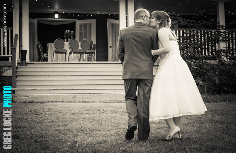 Kate and Mike wedding photo at Bowering Park by Newfoundland photographer Greg Locke