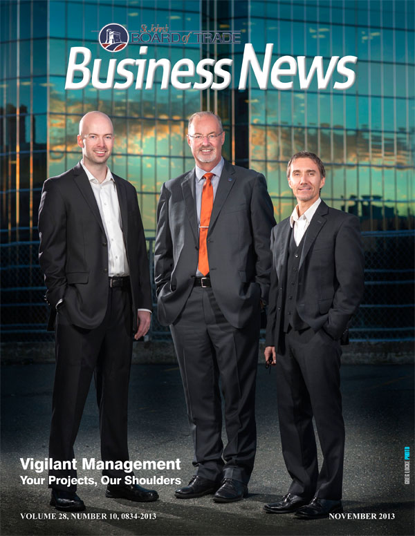 Vigilant Management on the cover of Business News. Photo by Greg Locke © 2013