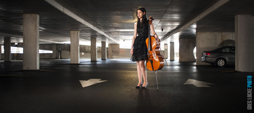 NSO cellist Rachel Gauntlett photographed by Greg Locke in St. John's, Newfondland © 2014