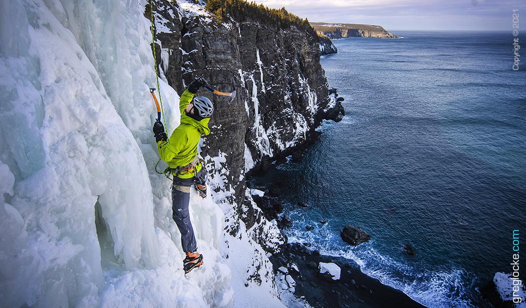 Ice climbing in Newfoundland