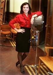 Canadian actress, Cynthia Dale on the set of Street Legal.Photo by Greg Locke (C) 2006 www.greglocke.comFilm scan